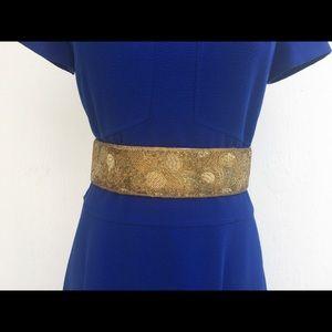 Vintage La Regale Gold Beaded Pattern Belt